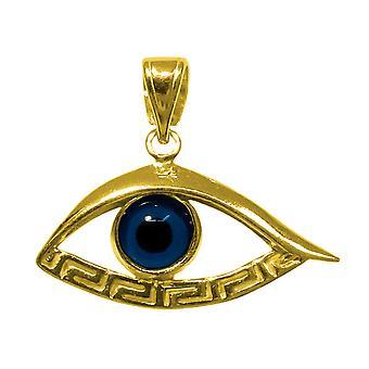 Plata de Ley 18 quilates de oro recubierto plateado mal de ojo Meandros colgante