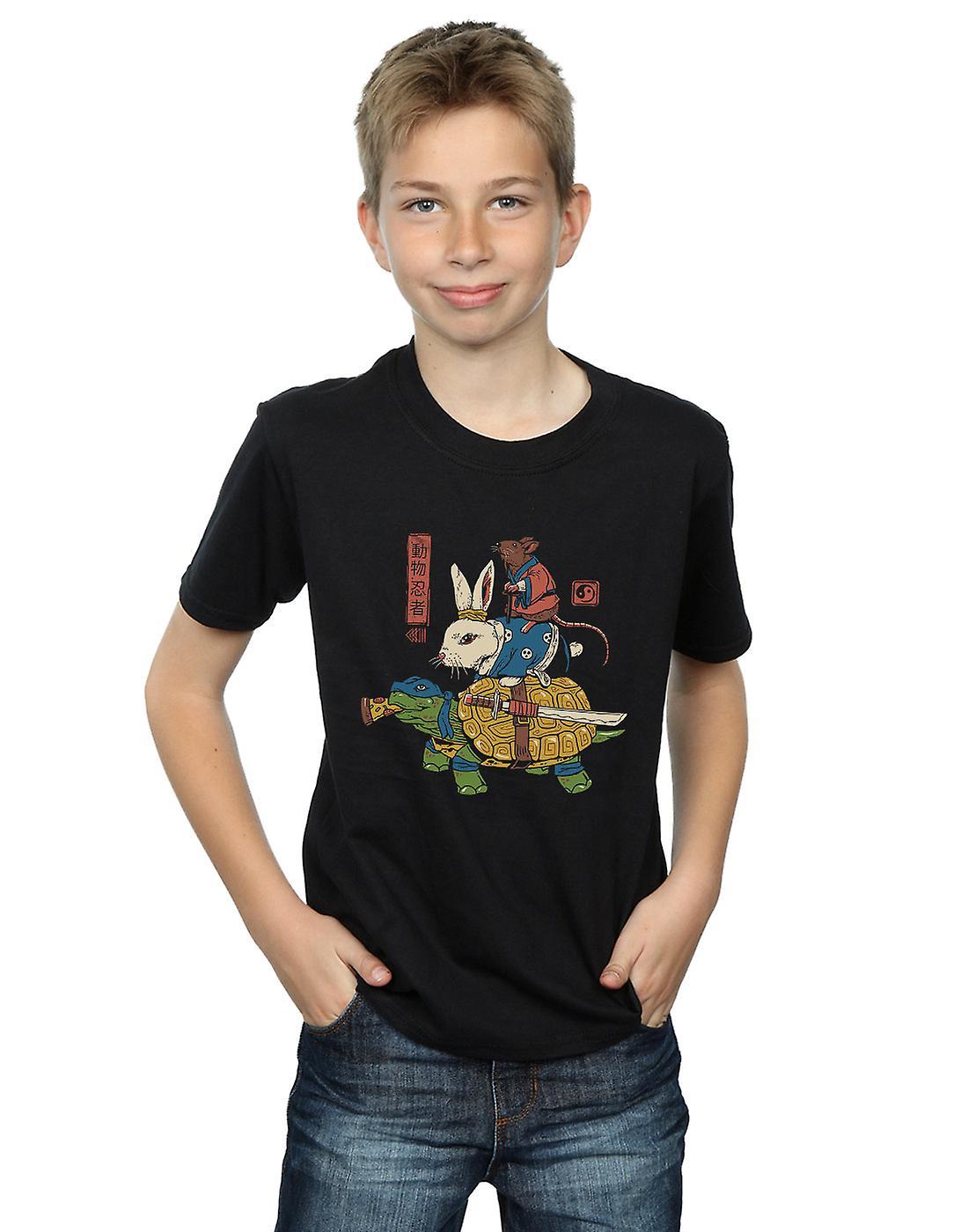 Vincent Trinidad Boys Kame, Usagi And Ratto Ninjas T-Shirt