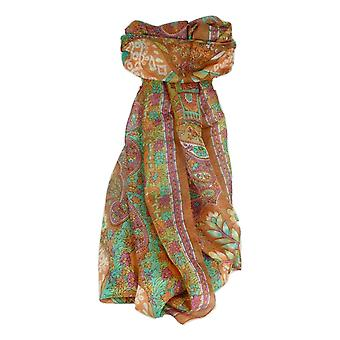 Mulberry Silk Traditional Long Scarf Kibe Copper by Pashmina & Silk