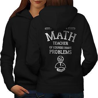 Matematik Öğretmeni İş Kadın BlackHoodie Geri   Wellcoda