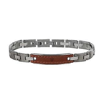 MASERATI - bracelet - mens-steel leather - JM218AMD01