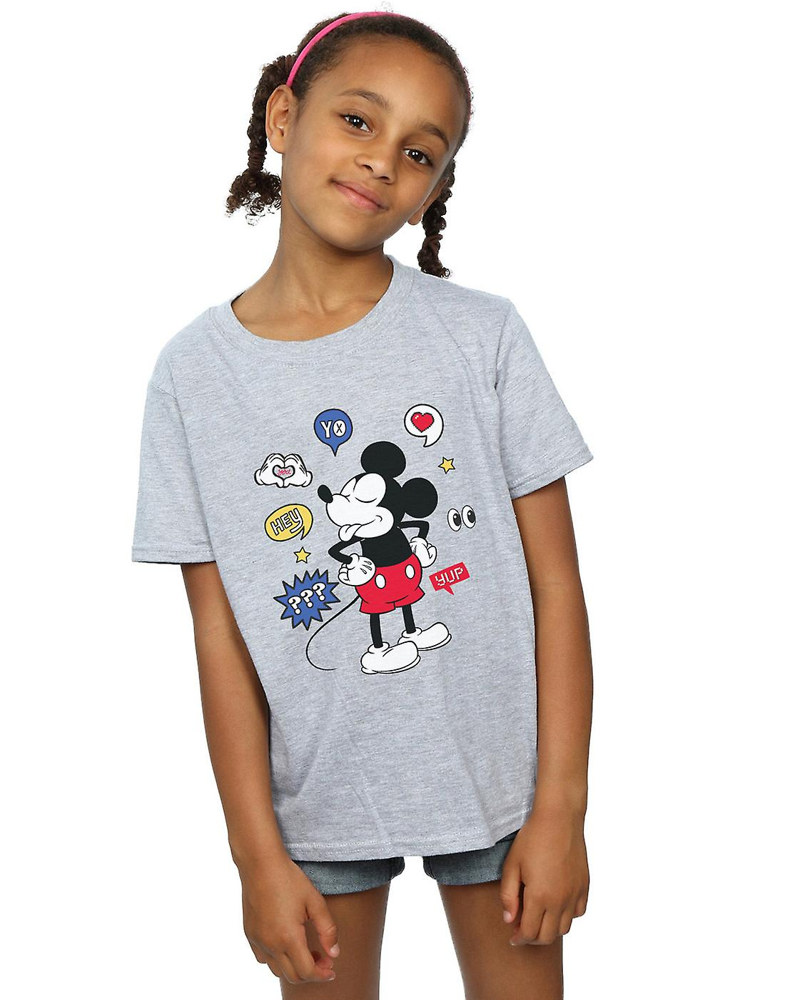 Disney Girls Mickey Mouse Tongue Out T-Shirt