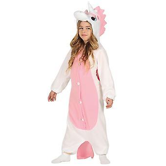 Mädchen Rosa Einhorn Onesie Fancy Dress Kostüm