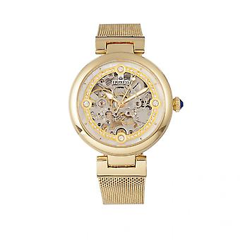 Empress Adelaide Automatic Skeleton Mesh-Bracelet Watch - Gold