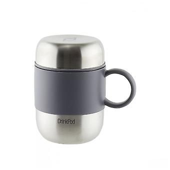 Stainless Steel 0.28 Litre Capsule Drinking Pod Flask with Handle