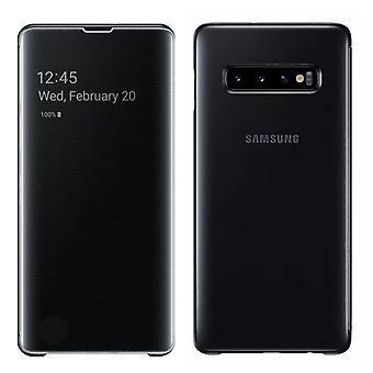 Samsung flip Pocket clear view standing cover EF ZG973CBEGWW for Galaxy S10 G973F 6.1 inch black