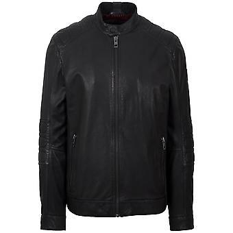 Boss Black Jagson5 Leather Biker Jacket