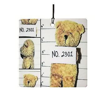 Teddybär Mugshot Auto Lufterfrischer