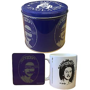 Sex Pistols Gift Set Mug and Coaster God Save The Queen Logo Presentation Tin