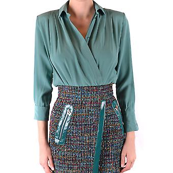 Elisabetta Franchi Ezbc050157 Women's Green Silk Shirt