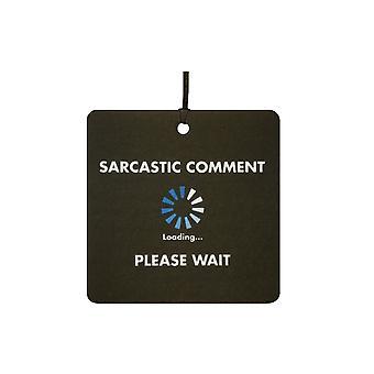Commento sarcastico caricamento auto deodorante