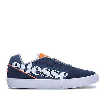 Womens Ellesse Ostuni Suede Trainers In Navy-White