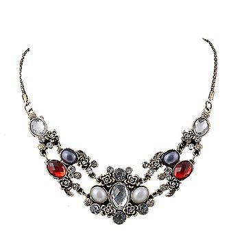 Senhoras colorido Chunky estilo jóia declaração Swarovski cristal bib colar