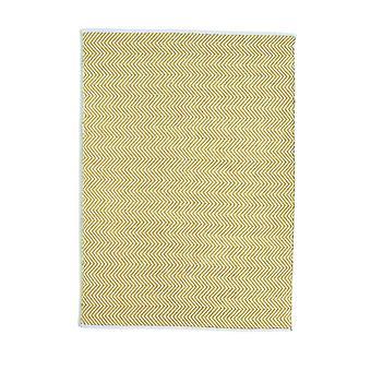 Hug Rug Reversible Woven Herringbone Rugs In Gold