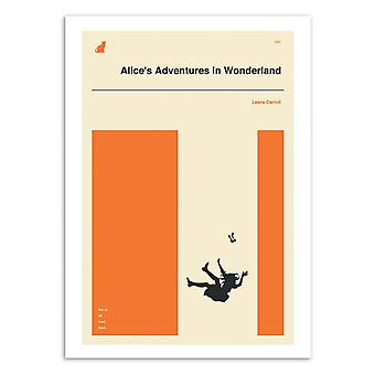 Art-Poster - Alice adventures in Wonderland part 2 - Jazzberry Blue