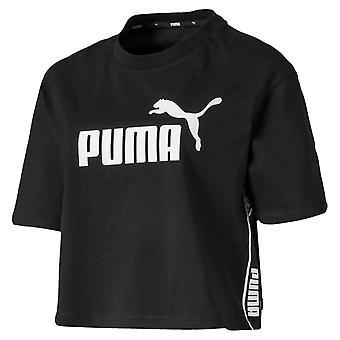 Puma Amplificato Donne Donne Sport Moda Cropped T-Shirt Nero