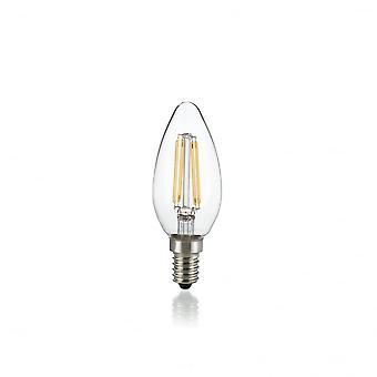 Ideal Lux Light Bulb Classic E14 4W Oliva Transparent 4000K