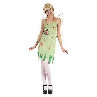 Bristol nyhed dame/damer Bloody Fairy med vinger kostume