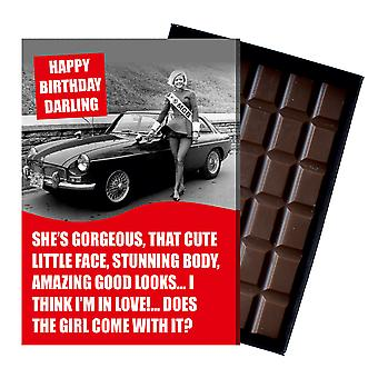 Funny Birthday Gift For MGB GT Roadster MG Owners Classic Car Chocolate Greeting Card CDL225