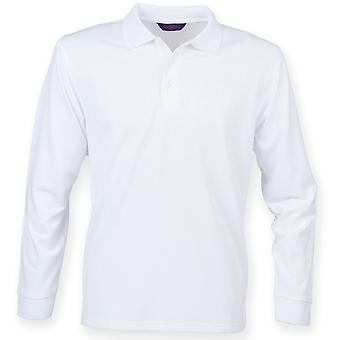 Henbury - Mens Long Sleeve Coolplus® Polo Shirt