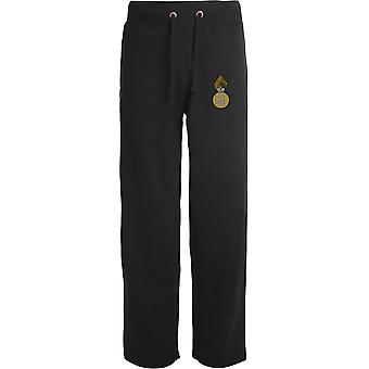 Royal Highland Fusiliers-licenseret British Army broderet åbne hem sweatpants/jogging bunde