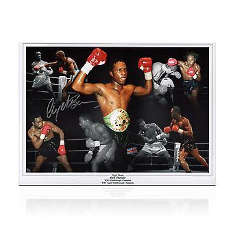 Nigel Benn Signed Boxing Photo: Dark Destroyer