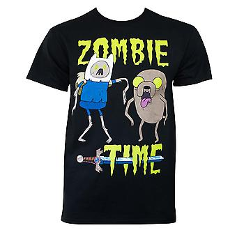 Adventure time mænd ' s sort zombie time T-shirt