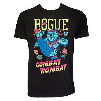 Rogue Ale Men's Black Combat Wombat Tee Shirt