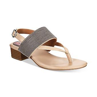 Stil & Co. Womens Marxie läder öppen tå Casual Slingback sandaler
