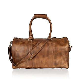Tan Holdall 19.0'quot; Twin Handles Ajustable Amovable Shoulder Strap