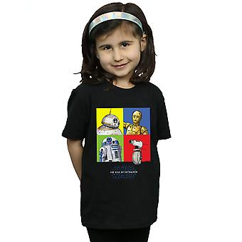 Star Wars The Rise Of Skywalker Droid Squares camiseta para niñas