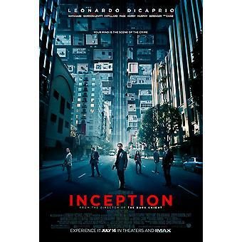 Inception Poster - (Leonardo Di Caprio, Christopher Nolan, Michael Caine) Double Sided Regular Us One Sheet (2010) Original Cinema Poster