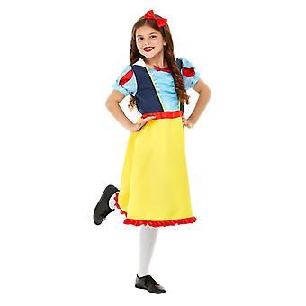 Meisjes Deluxe prinses sneeuw Fancy Dress kostuum