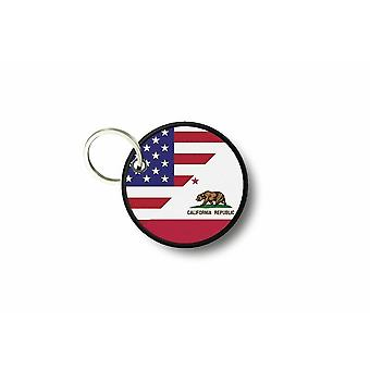 Cle Cles Key Brode Patch Ecusson Flag USA Usa California