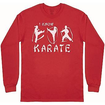 I know Karate-Miesten pitkähihainen T-paita