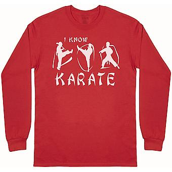 I Know Karate - Mens Long Sleeve T-Shirt