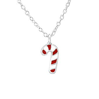Children's Sterling Silver Candy Cane Necklace