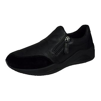 Geox D Omaya A Zipped Casual Trainers / Shoes - Black