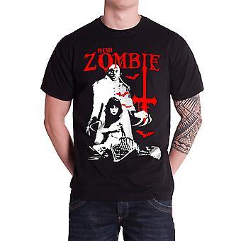 Rob Zombie Mens T Shirt Black Teenage Nosferatu Vampire logo Official