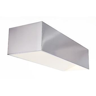 LED wand lamp Dado dubbele 10W 3000 K IP20 incl. stroomvoorziening dimbaar zilver aluminium