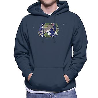 Rick and Morty Naked Sky Santa Overlooking Earth Men's Hooded Sweatshirt