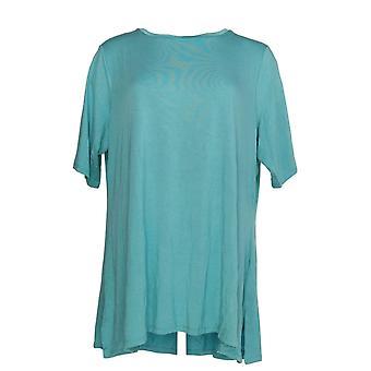 H door Halston Women ' s plus top Essentials elleboog mouw groen A350262