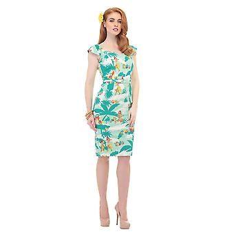 Aida Zak Collectif Women's 1950's Tropical Hawaiian Sandra Elbise