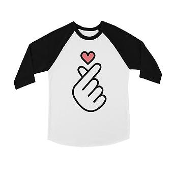 365 Printing Finger Heart Youth Baseball Jersey Cute K-Pop Lover Gift For Teens