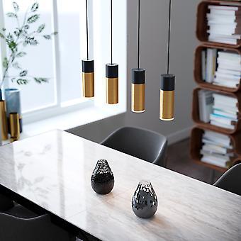 Vela 4 Mini Pendant Lighting Black-Brass