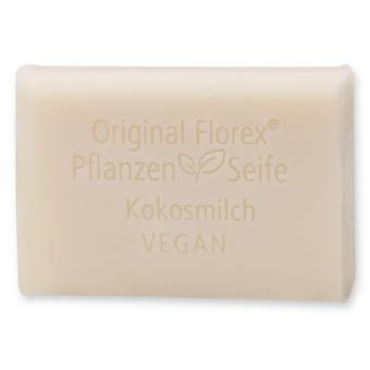 Florex Vegan Vegetable Oil Soap - Coconut Milk - Creamy Oils Pamper and Care for The Skin 100 g