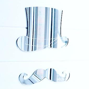 Top Hat and Moustache Acrylic Mirror
