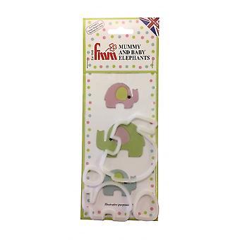 FMM mamá & bebé elefante cortador set