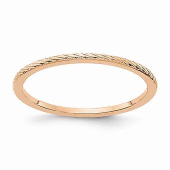 10kr 1.2mm twisted wire mønster stables band ring smykker gaver til kvinner - ring størrelse: 4,5 til 10