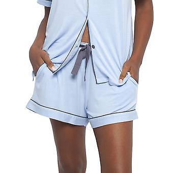 Cyberjammies 4409 Frauen's Olivia Blau Modal stricken Pyjama Kurz